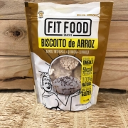 Biscoito de Arroz Integral + Quinoa + Linhaça 90g - Fit Food