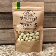 Macadamia Revestida de Chocolate Branco -100g