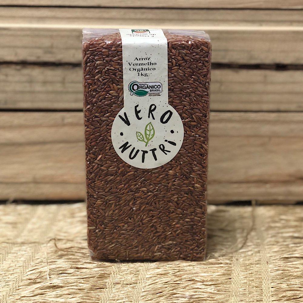 Arroz Cateto Vermelho Orgânico kg - a vácuo