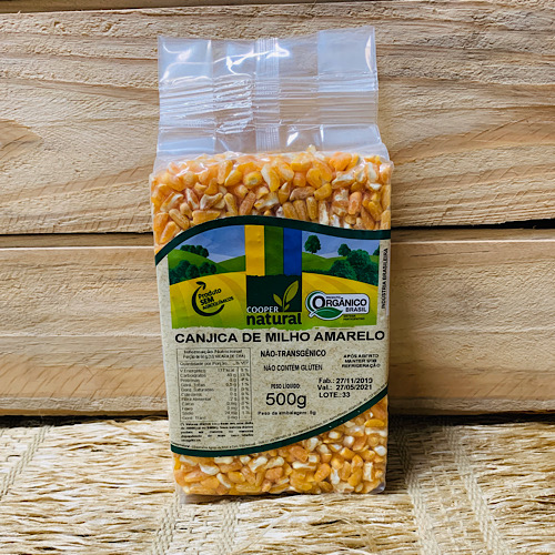 Canjica de Milho Amarela Orgânica 500g