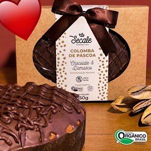 Colomba Pascoal de Chocolate e Damasco Orgânico 650g (Fermentação Natural)