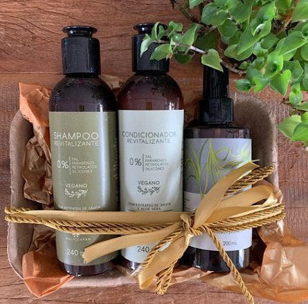 Kit Shampoo, Condicionador e Harmonizador Natal