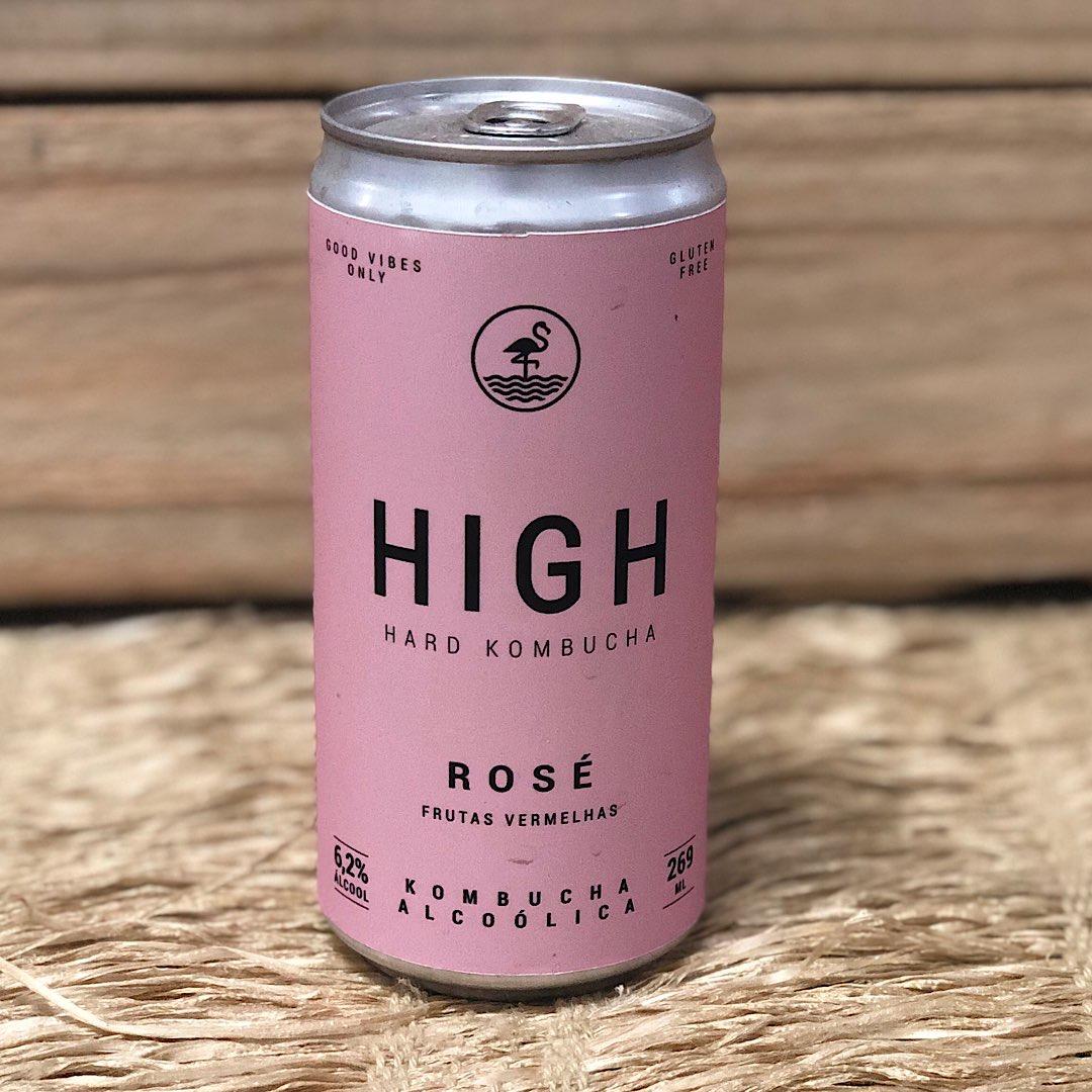 Kombucha High Rosé Frutas Vermelhas 269ml - Destilada