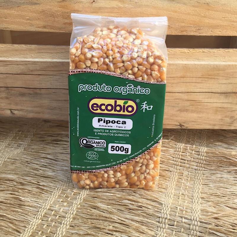 Milho de Pipoca Orgânico 500g