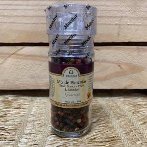 Mix Pimentas Rosa Branca Preta e Moedor 40g