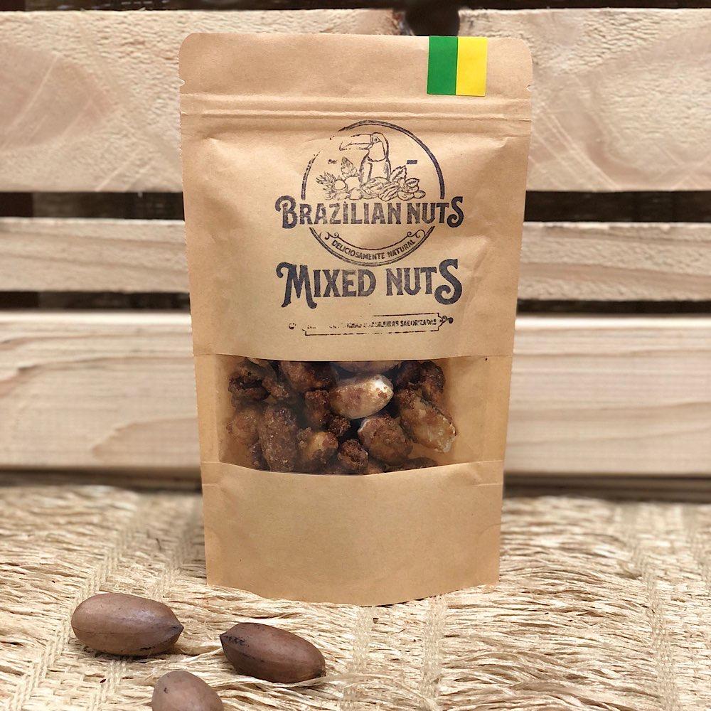 Mixed de Nuts Caramelizados 142g - Brazilian Nuts