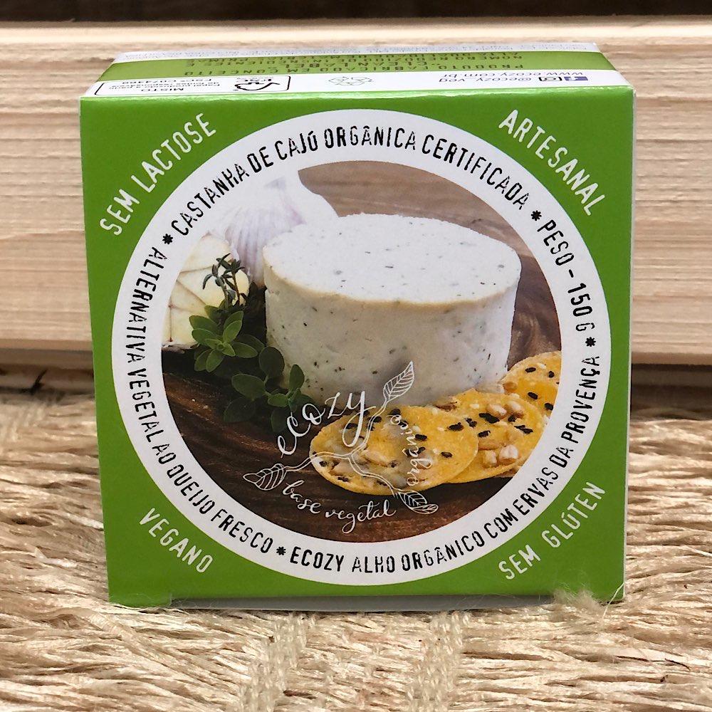 Queijo Vegetal com Alho Organico e Ervas 150g - Ecozy