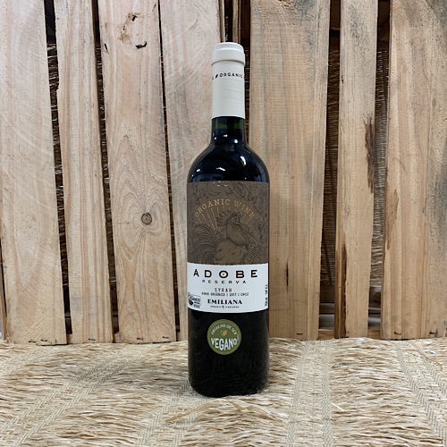 Vinho Tinto Adobe Syrah Orgânico 750ml - Vegano