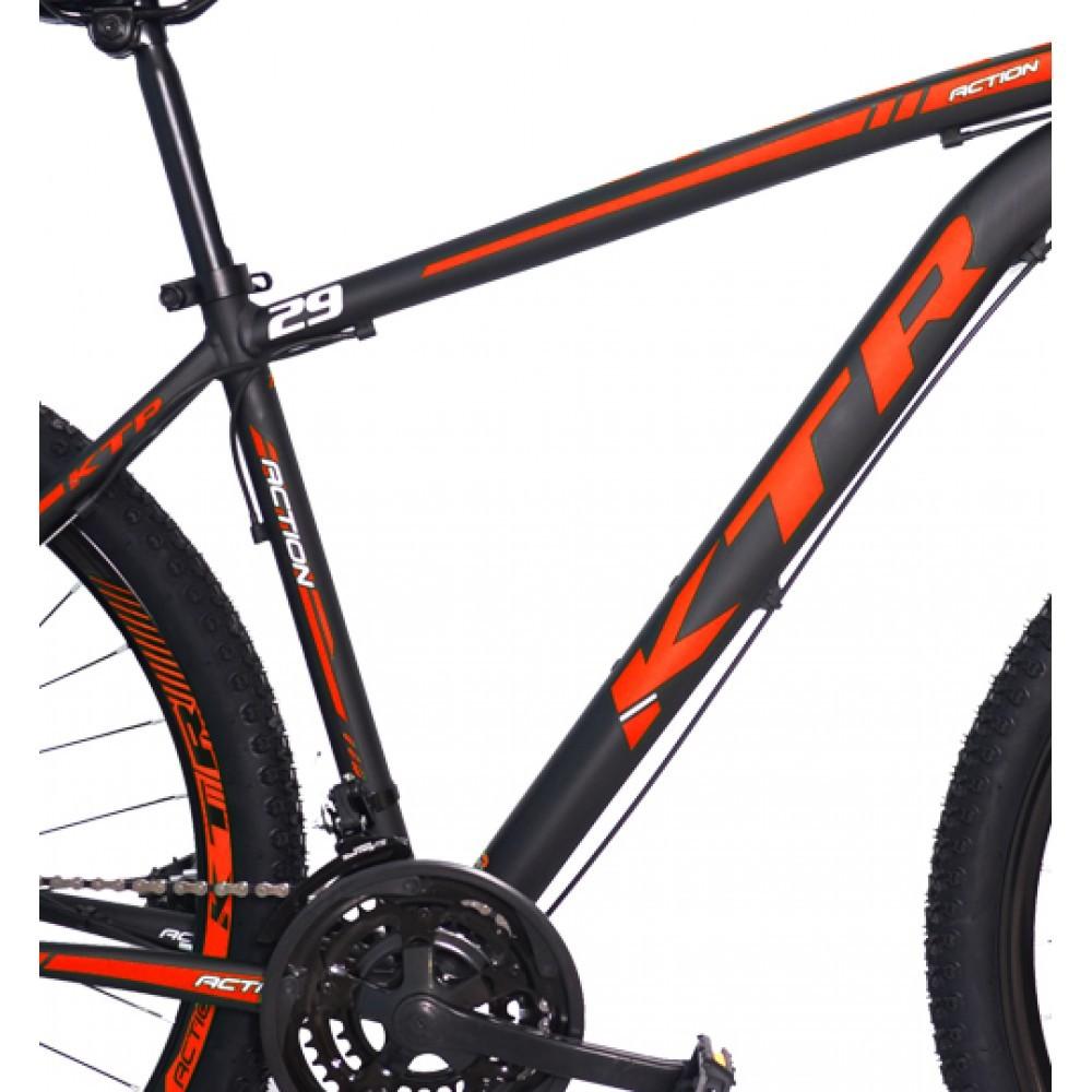 CÓPIA - Bicicleta MTB KTR ACTION Aluminio Aro 29 24V Disco Cambio Shimano Teste2