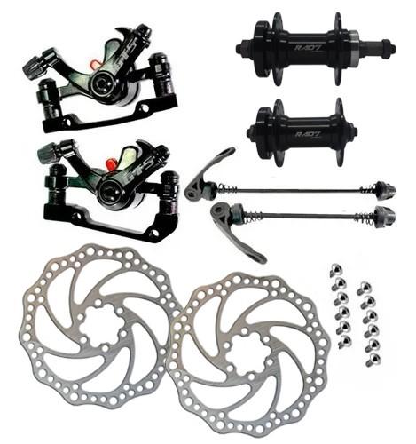 Freio Disco Bicicleta GTS Alumínio Kit Completo com Discos