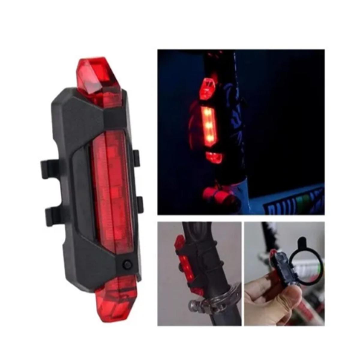 Lanterna Vista Light RapidX Led Bike Sinalizador Usb Vermelho