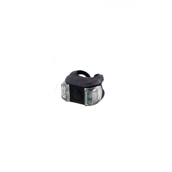 Sinalizador LED Silicone 02 Leds Quadrado HJ-009 Preto