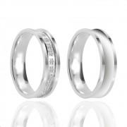 Alianças de Namoro Prata Polido 5mm