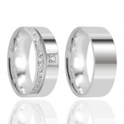 Alianças Namoro Prata Polido 7mm