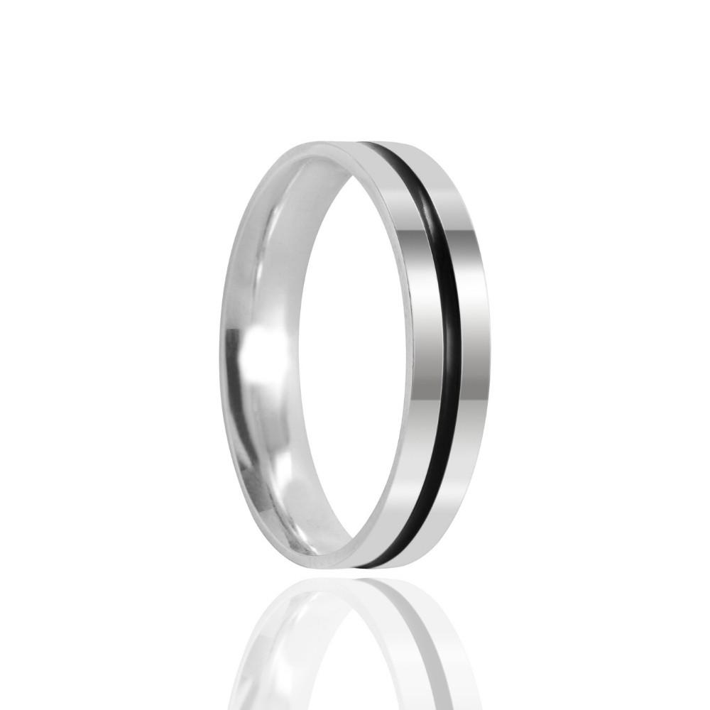 Aliança de Namoro Geek Prata Polido 4mm