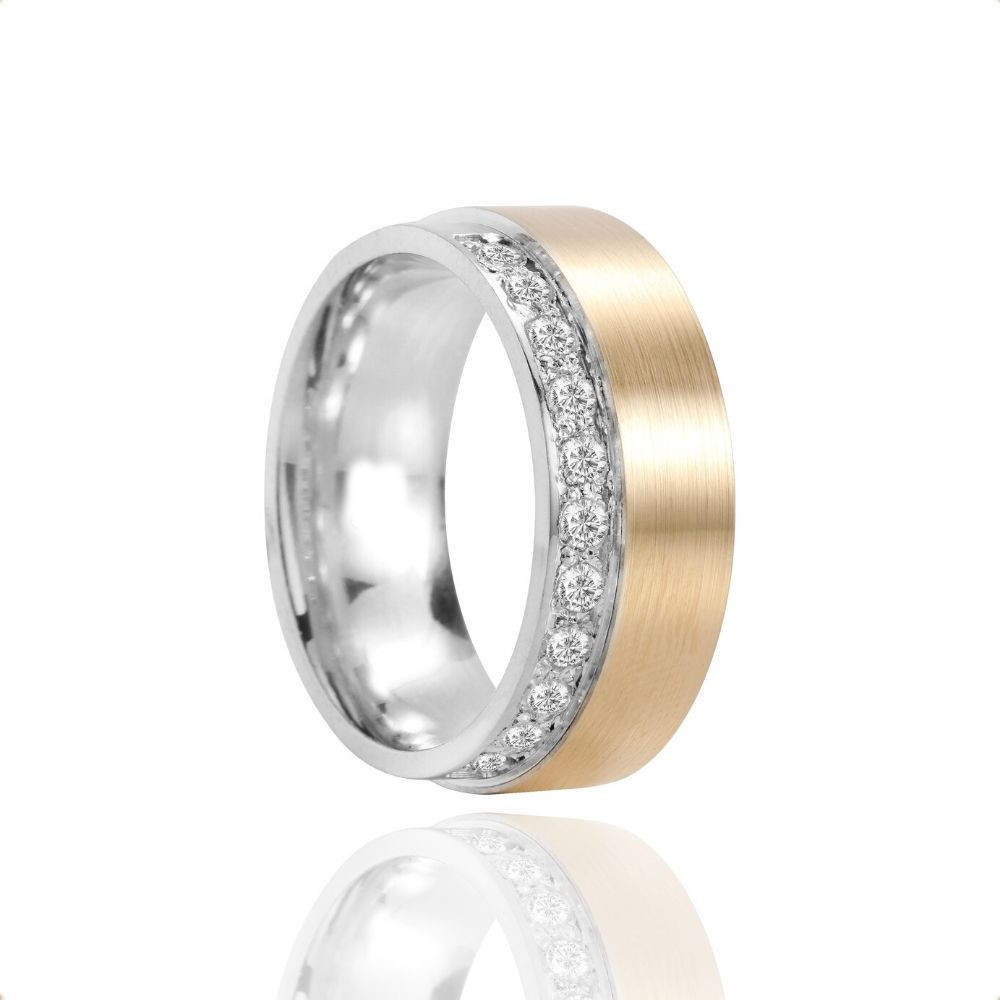 Alianças Casamento Ouro 10k Polido Fosco 8mm