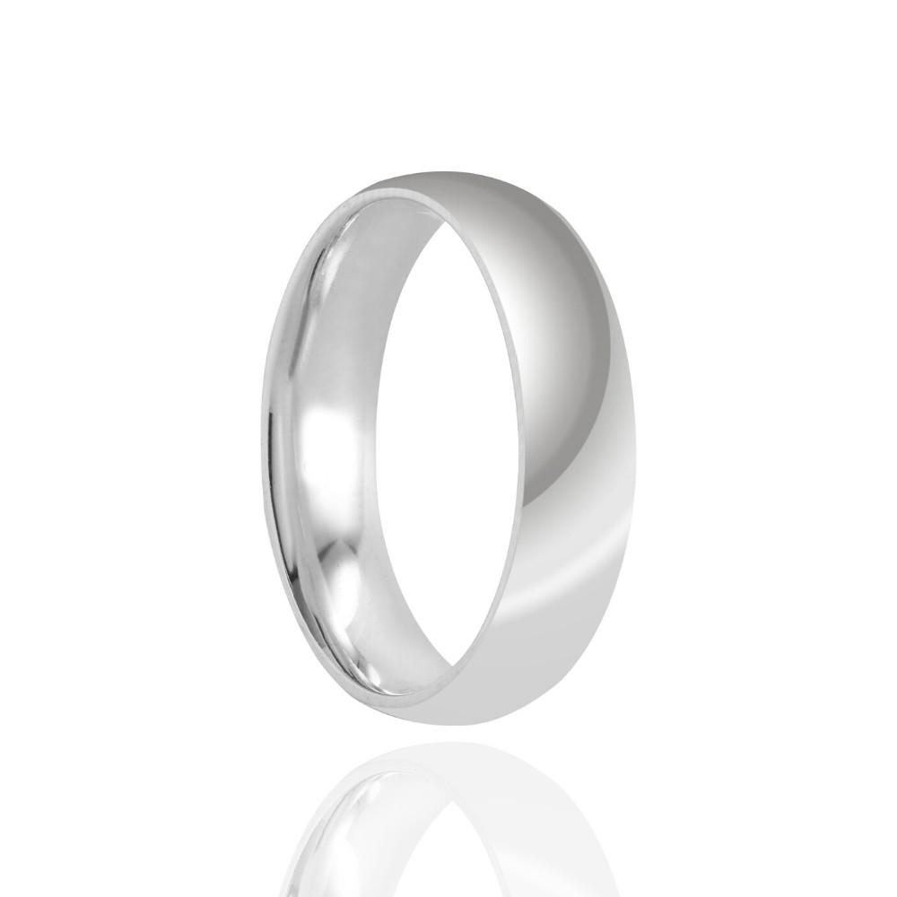 Alianças de Namoro Prata Cravejada Polido 5mm