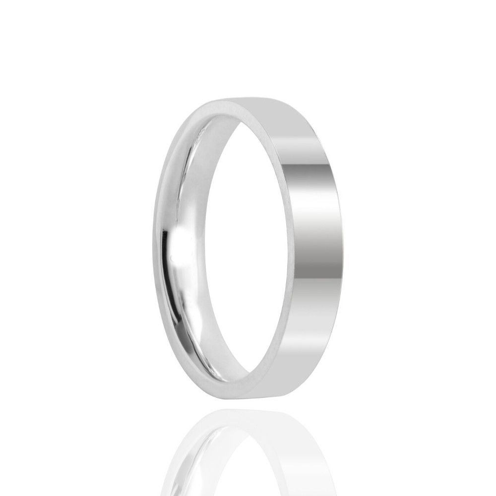 Alianças de Namoro Prata Polido 4mm