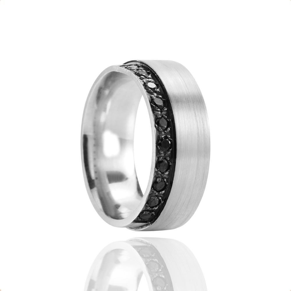Alianças de Namoro Prata Polido Fosco 8mm