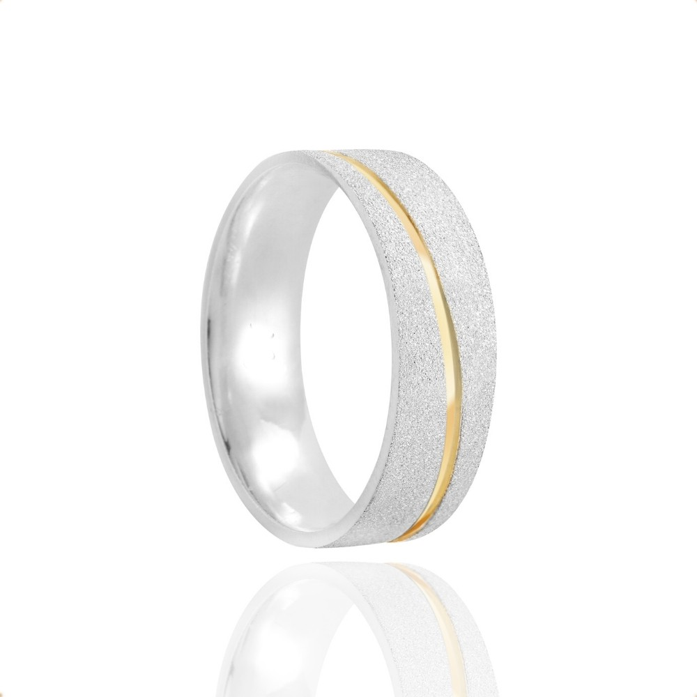 Alianças Namoro Coração Vazado Prata Fosca Diamantada 6mm