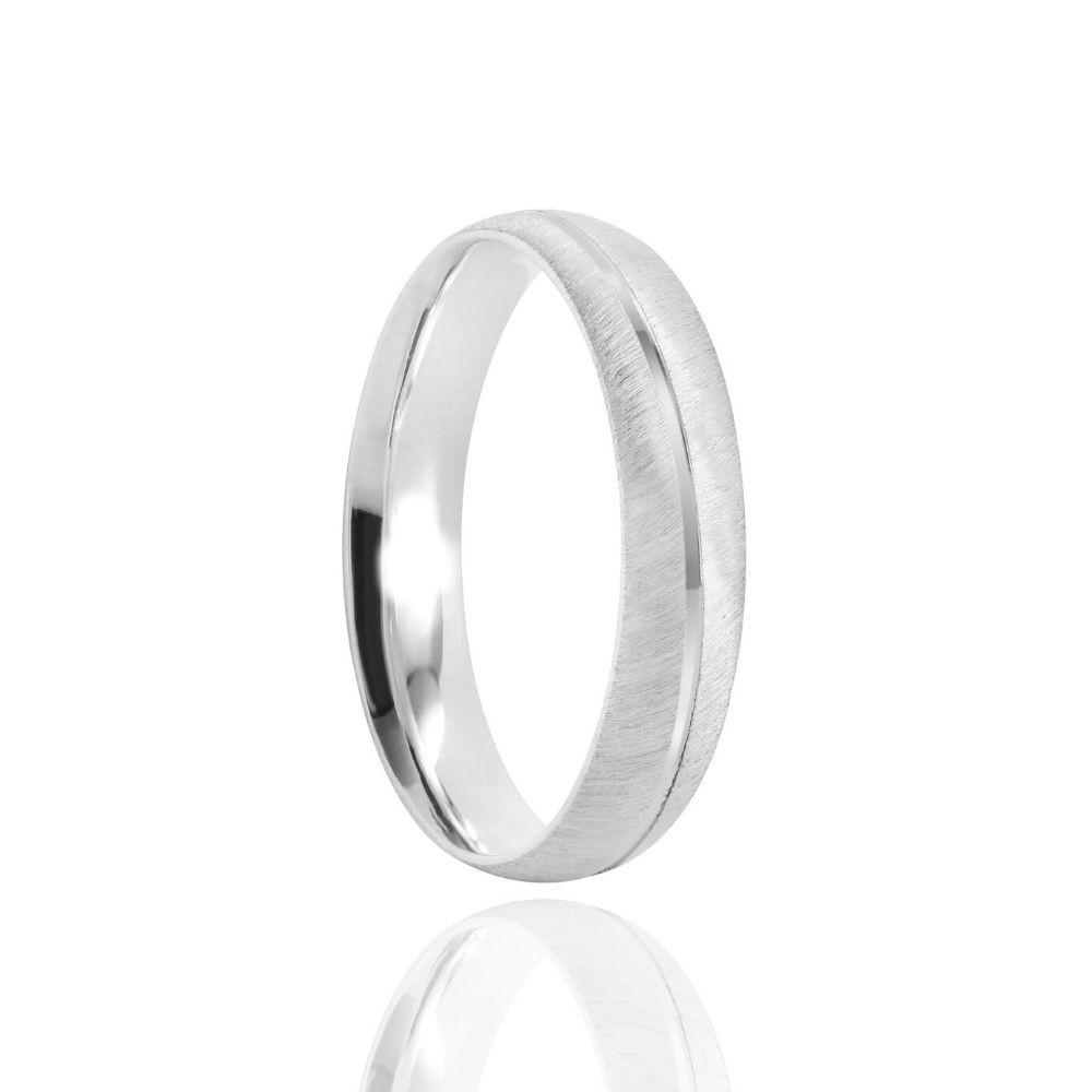 Alianças Namoro Prata Foscas 4mm