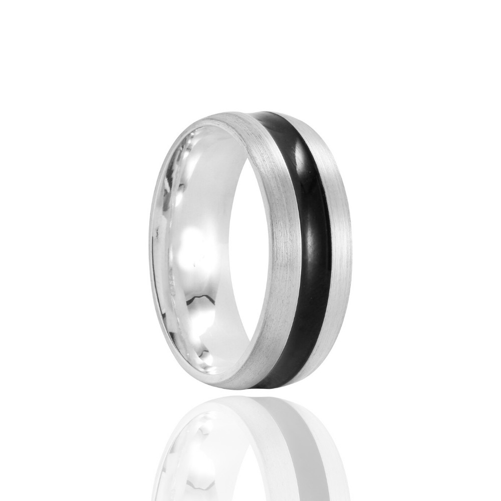 Aliança de Namoro Geek Prata Foscas 7mm