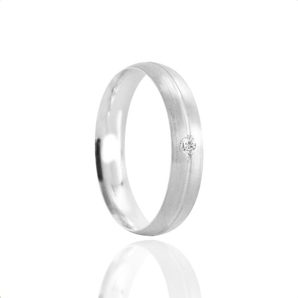 Alianças Namoro Prata Fosco 4mm