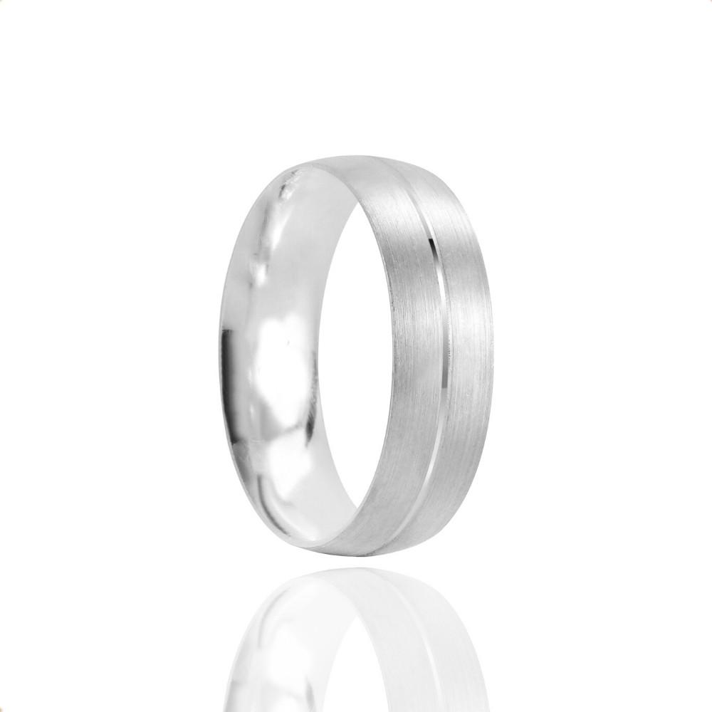 Alianças Namoro Prata Fosco 6mm