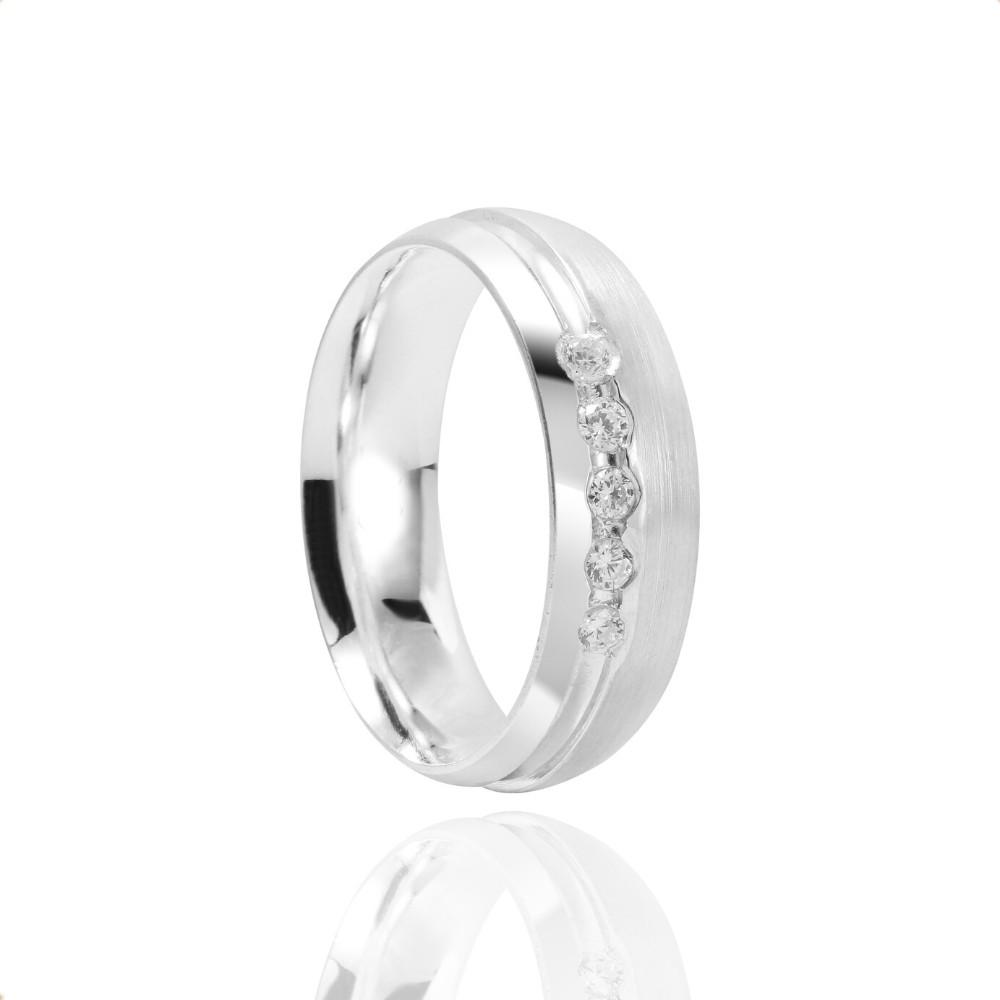 Alianças Namoro Prata Fosco 7mm