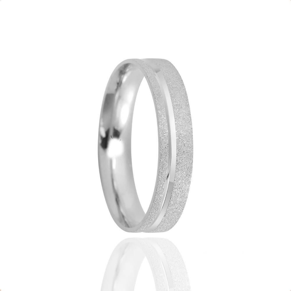 Alianças Namoro Prata Granitado 4mm