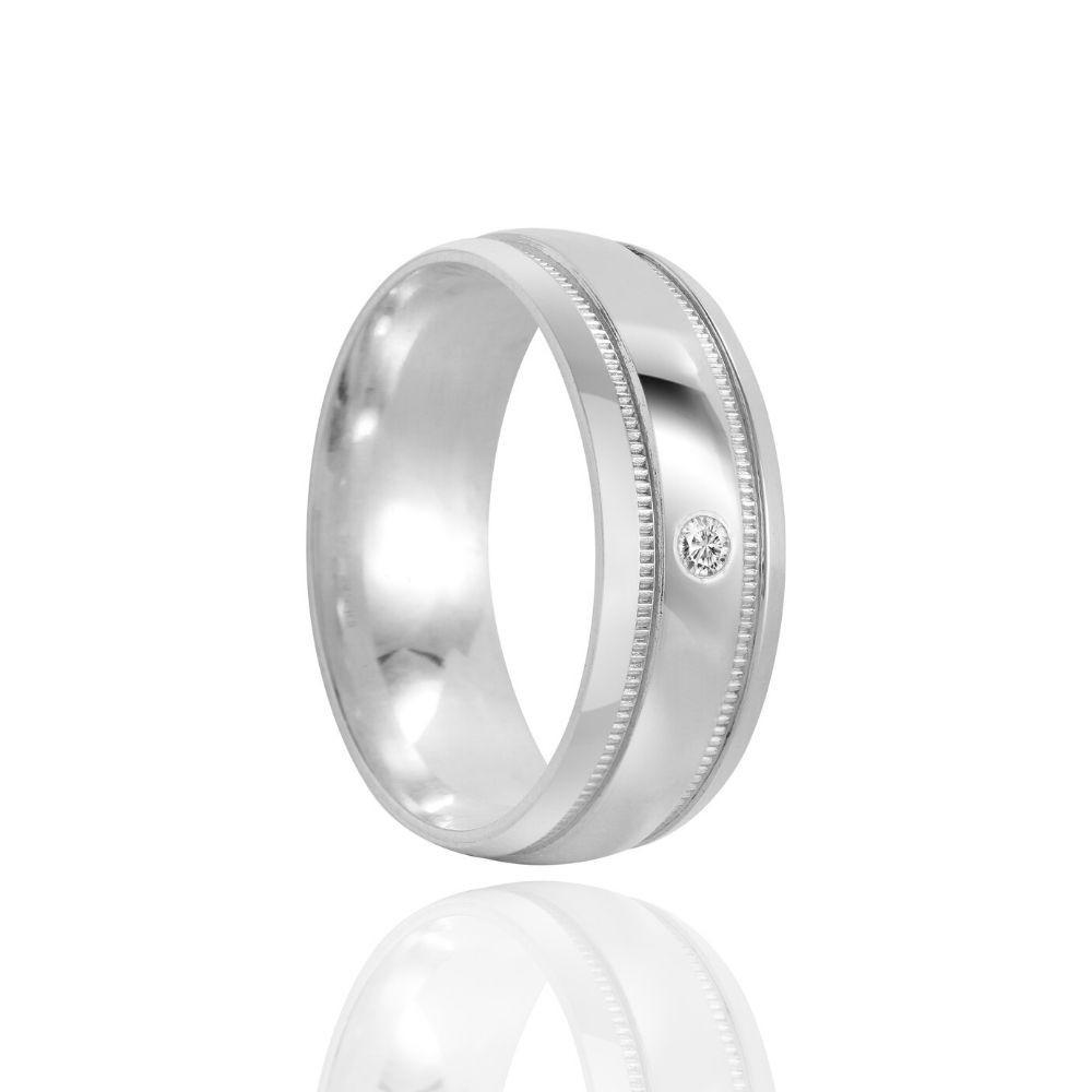 Alianças Namoro Prata Polida 7mm
