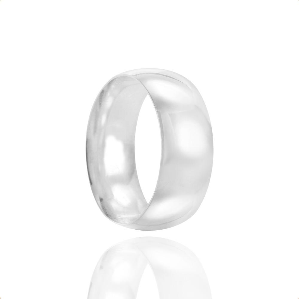 Alianças Namoro Prata Polidas 7mm