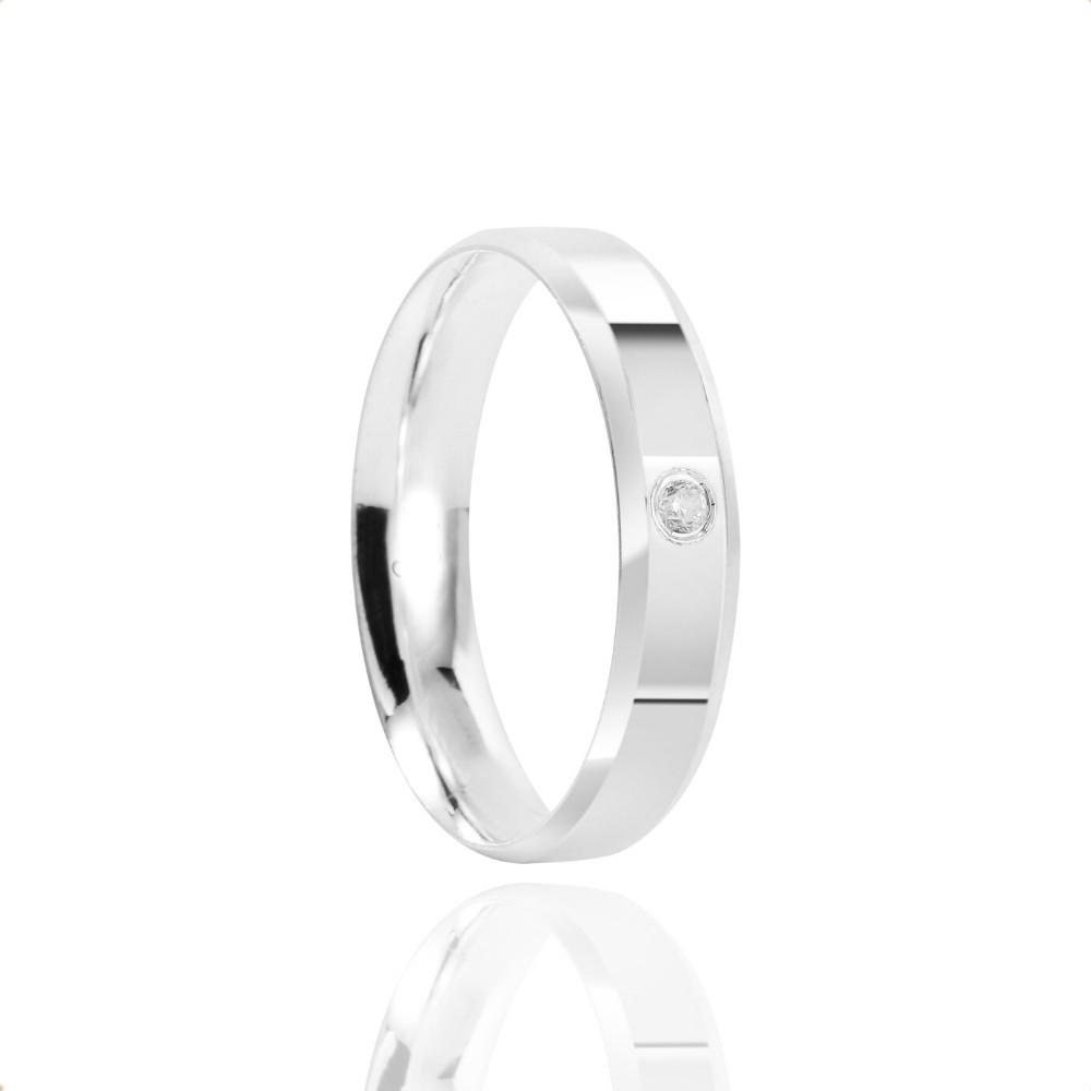 Alianças Namoro Prata Polido 4mm