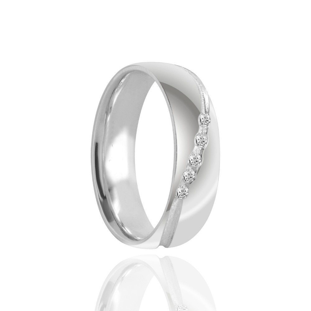 Alianças Namoro Prata Polido 6mm