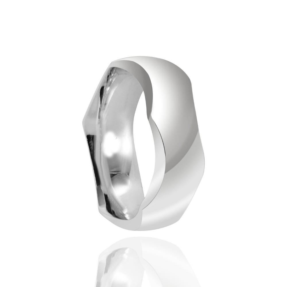 Alianças Namoro Prata Polido 8mm
