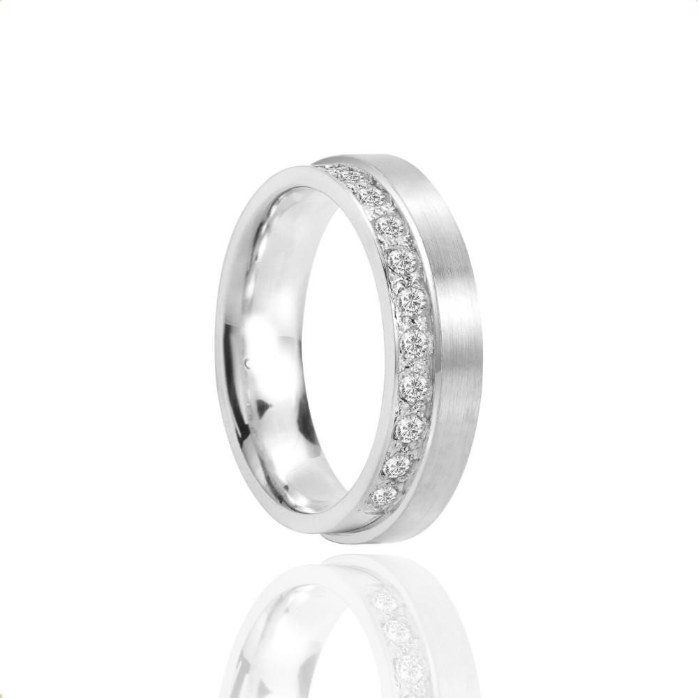 Alianças Namoro Prata Polido Fosco 6mm