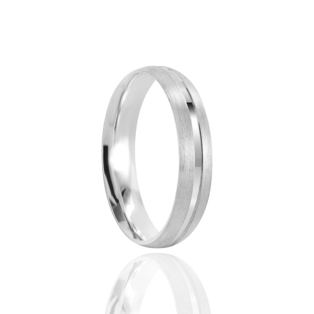 Alianças Namoro Prata Polida 4mm