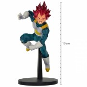 ACTION FIGURE DRAGON BALL SUPER - VEGETA SUPER SAYAJIN GOD - BLOOD OF SAIYANS REF: 20511/20512