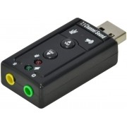 ADAPTADOR PLACA DE SOM USB 7.1 CANAIS VIRTUAL AUSB71