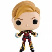 BONECO FUNKO POP MARVEL ENDGAME - CAPTAIN MARVEL WITH NEW HAIR - #576