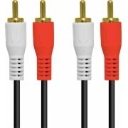 CABO 2 RCA X 2 RCA 1.5 METROS COM CONECTORES DOURADO - 2RCA-15G