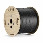 CABO FIBRA OPTICA 1FO BOBINA COM 2 KM DROP FLAT PRETO - PN1FOLFSH02 FLASH