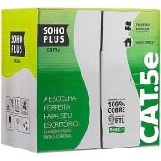 CABO LAN U/UTP CAT.5E 24 AWG 4 PARES CMX 305M BRANCO 100% COBRE