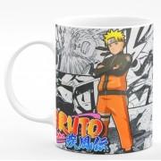 Caneca de Porcelana Naruto Shippuden Gibi - Naruto Uzumaki