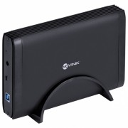 """CASE EXTERNO PARA HD 3.5"""" USB 3.0 TIPO B COM CHAVE I/O PRETO - CH35-30O"""