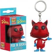 CHAVEIRO FUNKO POP KEYCHAIN DR.SEUSS FOX IN SOCK