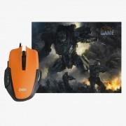 Combo Mouse Gamer 3.200dpi OEX MC103 e Mousepad Clash