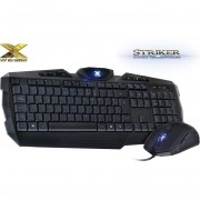 COMBO TECLADO+MOUSE VX GAMING STRIKER AZUL