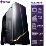COMPUTADOR GAMER 3000 - RYZEN 3 3200G 3.6GHZ MEM. 8GB DDR4 SSD 240GB RX 570 4GB FONTE 550W