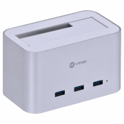 "DOCKING STATION PARA HD 2.5"" E 3.5"" COM 3 USB 3.0 FUNCIONA COMO HUB - DS-A30HB"